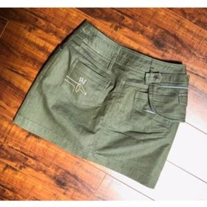 Green Belted Pack Golf Women's Skirt / Skort sz XS